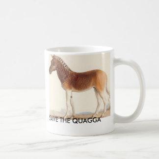 quagga picture, SAVE THE QUAGGA Coffee Mug