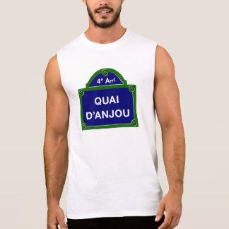 Quai d'Anjou, Paris Street Sign Sleeveless Shirt