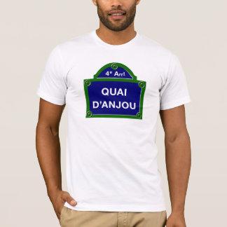 Quai d'Anjou, Paris Street Sign T-Shirt