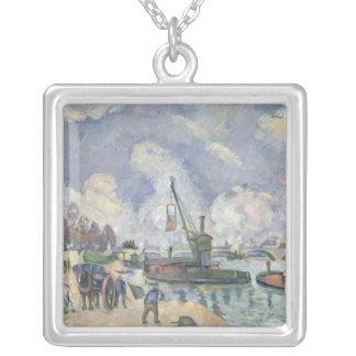 Quai de Bercy, Paris, 1873-75 Silver Plated Necklace
