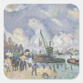 Quai de Bercy, Paris, 1873-75 Square Sticker