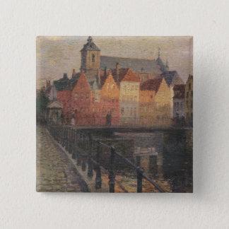 Quai de la Paille, Bruges Pinback Button