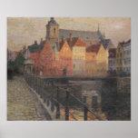 Quai de la Paille, Bruges Poster