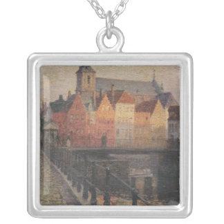 Quai de la Paille, Bruges Silver Plated Necklace