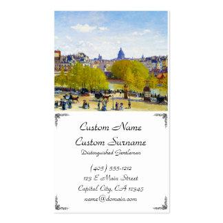 Quai du Louvre Claude Monet Business Card