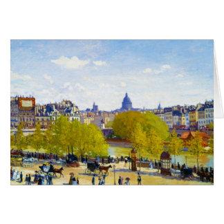 Quai du Louvre Claude Monet Stationery Note Card