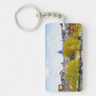 Quai du Louvre Claude Monet Keychain