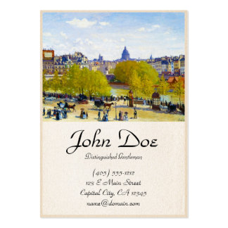 Quai du Louvre Claude Monet Large Business Card