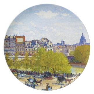 Quai du Louvre Claude Monet Party Plate