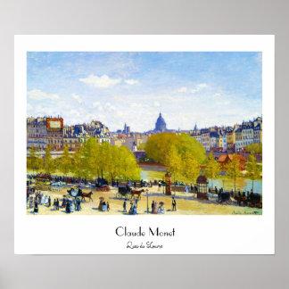 Quai du Louvre Claude Monet Poster