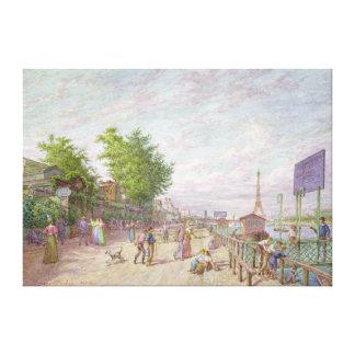 Quai du Point du Jour, Boulogne Billancourt, 1897 Canvas Print