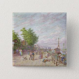 Quai du Point du Jour, Boulogne Billancourt, 1897 Pinback Button