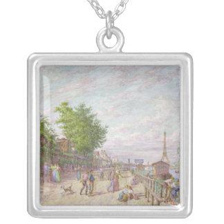 Quai du Point du Jour, Boulogne Billancourt, 1897 Silver Plated Necklace