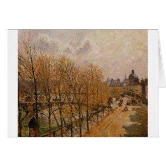 Quai Malaquais, mañana de Camille Pissarro Tarjeta De Felicitación