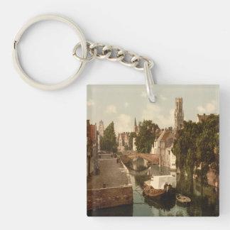 Quai Vert, Bruges Belgium Keychain