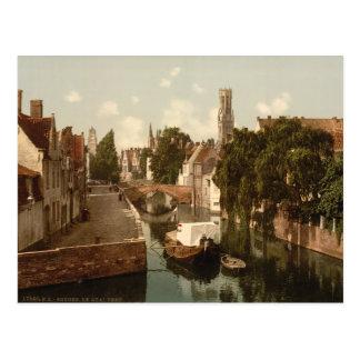 Quai Vert, Bruges, Belgium Postcard