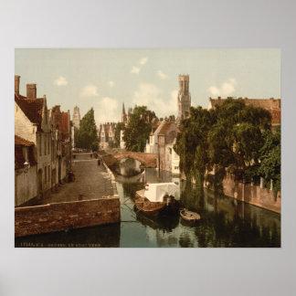Quai Vert, Bruges, Belgium Poster
