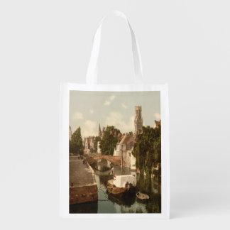Quai Vert, Bruges Belgium Reusable Grocery Bag