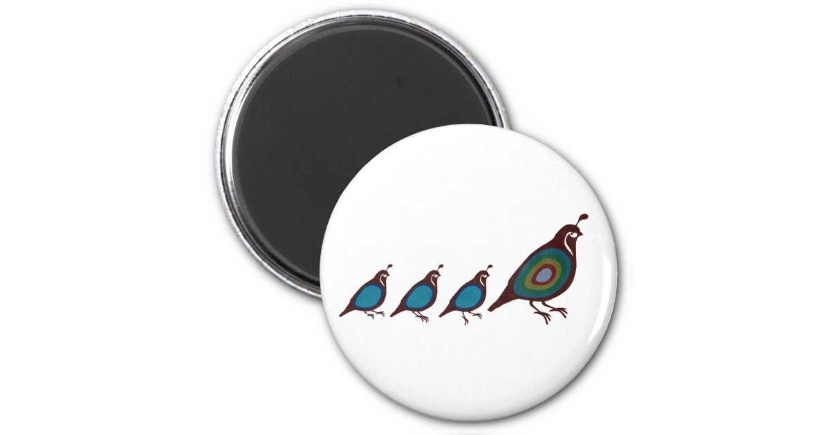 quail 2 inch round magnet zazzle. Black Bedroom Furniture Sets. Home Design Ideas