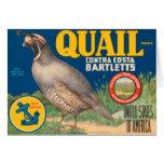 Quail Brand Contra Costa Bartletts Card