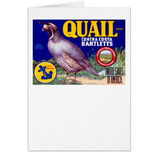 Quail Brand Contra Costa Bartletts Cards
