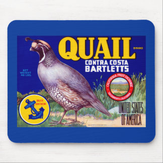 Quail Brand Contra Costa Bartletts Mouse Pad