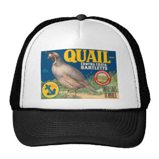 Quail Brand Contra Costa Bartletts Trucker Hat