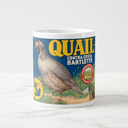 Quail Brand Contra Costa Bartletts Vintage Crate L