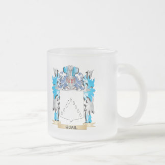 Quail Coat of Arms - Family Crest 10 Oz Frosted Glass Coffee Mug