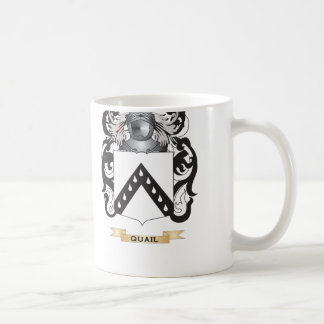 Quail Coat of Arms (Family Crest) Classic White Coffee Mug