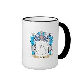 Quail Coat of Arms - Family Crest Ringer Coffee Mug