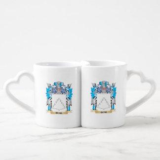 Quail Coat of Arms - Family Crest Couples' Coffee Mug Set