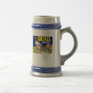 Quail Contra Costa Bartletts Beer Stein