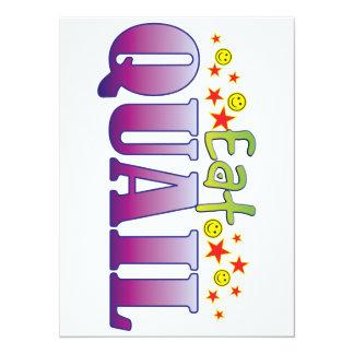 Quail Eat 5.5x7.5 Paper Invitation Card