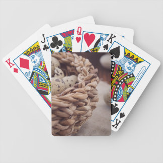 Quail Eggs in Nest Bicycle Playing Cards