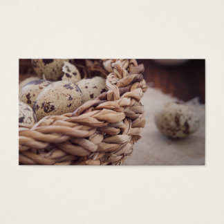 Quail Eggs in Nest Business Card