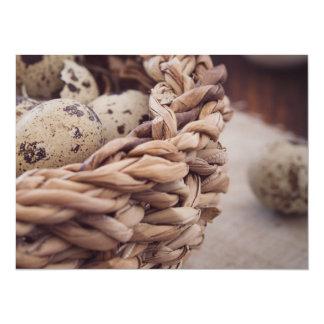 Quail Eggs in Nest Card