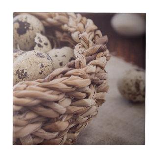 Quail Eggs in Nest Tile