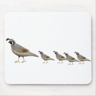 Quail Family Mousepad