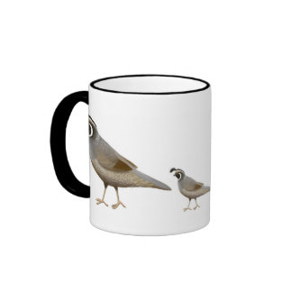 Quail Family Ringer Mug