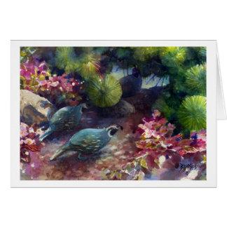 Quail Garden Stroll Card