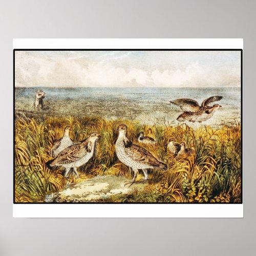 Quail Hunting - Vintage fine Art
