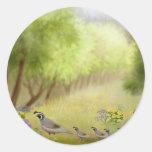 Quail in a Meadow Sticker