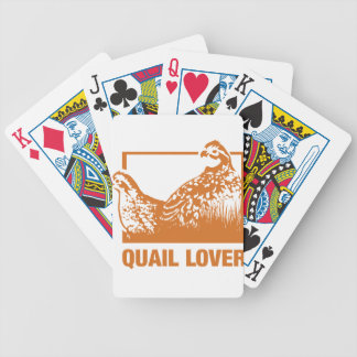 Quail lover bicycle playing cards