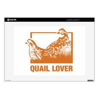 Quail lover laptop skins