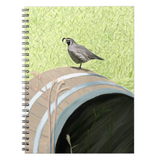 Quail on a Barrel Notebook