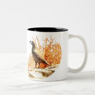 QUAIL ON ROCK COFFEE MUG