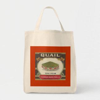 Quail Peas Tote Bag