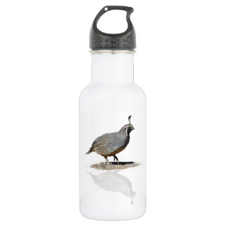 QUAIL REFLECTED STAINLESS STEEL WATER BOTTLE