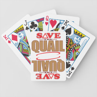 Quail Save Bicycle Playing Cards